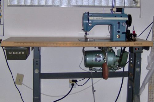 The Singer 20U, an industrial machine
