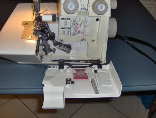 Bernina bernette 334d serger review sewing insight color coded chart on the bernina 334d serger fandeluxe Gallery