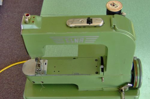 Elna Grasshopper, first sewing machine by elna