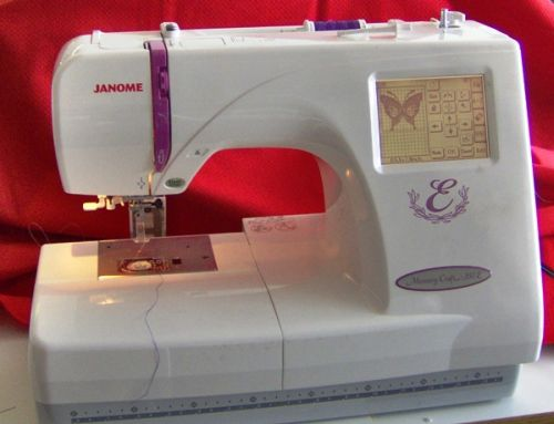 Janome Memory Craft 350E, a classic embroidery only machine