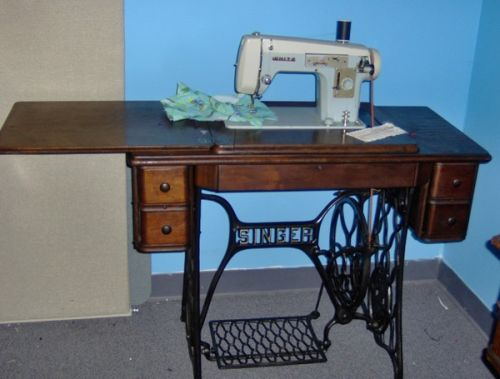 White zigzag sewing machine