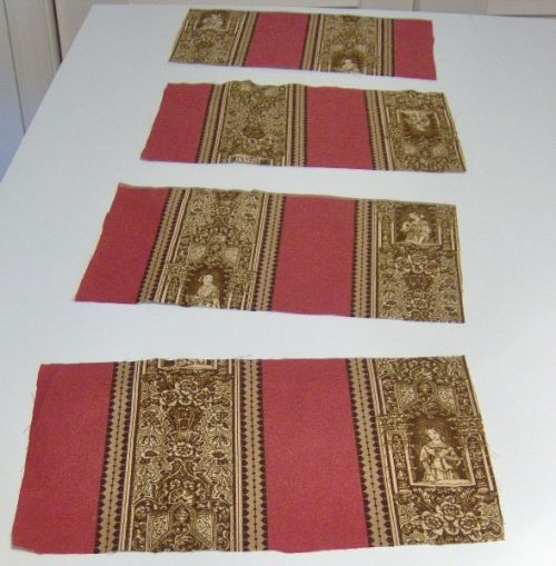 Four pattern pieces the same size as the purse front and back