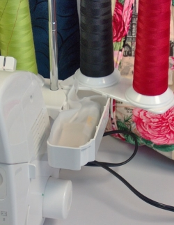 Four thread-two needle serger