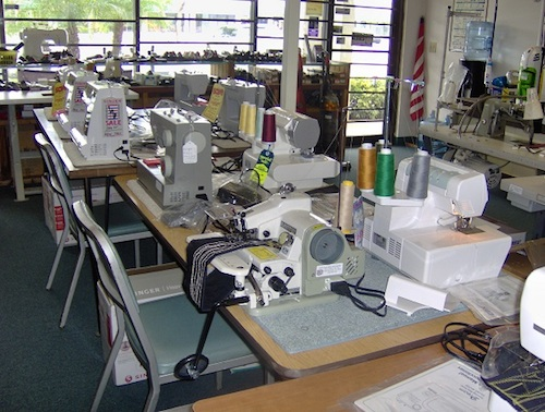 Impressive inventory of sewing machines and sergers