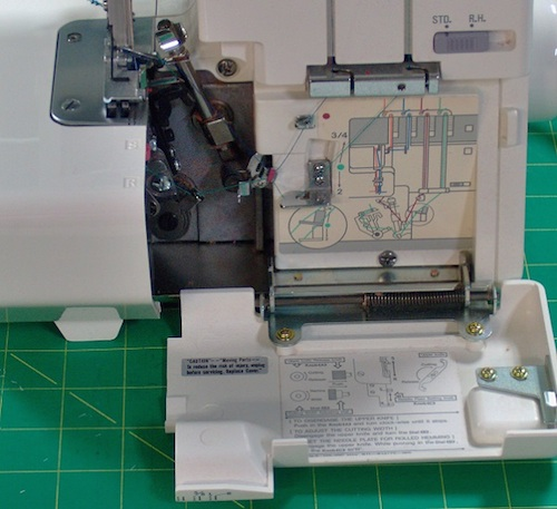 Janome 634d review sewing insight color coded threading guide inside the looper door fandeluxe Gallery