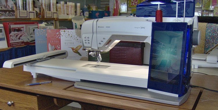 Larger sewing and embroidery machine